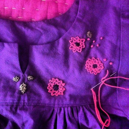 folk dress detail