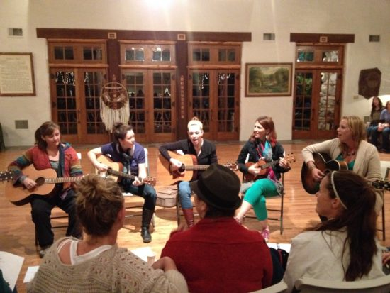 the guitar (and ukulele!) class gave a moving performance the last night of camp.